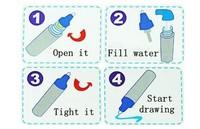 Новая aqua doodle рисунок игрушки, матовый рисунок ковра & 1 Волшебная ручка/воды рисуя замена мат /aquadoodle