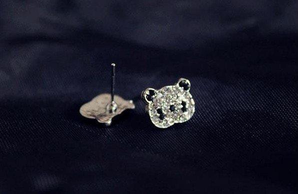 Серьги-гвоздики Панда 38грн