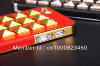 Чехол для для мобильных телефонов Novelty Cool Newest Fashion Punk Stud Spike Rivet Pyramid Hard Shell Case Cover Protector for Apple iphone 4 4S 4G AT&T -8 Color