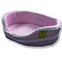 Аксессуары для кошек Red and White Stripes Lace Cute Pet Bed, Large for dog/cat+gift
