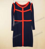 Женское платье 2013 Korea Women Cotton Three-quarter Sleeves Fitting Bag-hip Render Sexy Dress M, L 9357