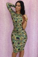 Одежда и Аксессуары Bandage Dress FEELINGIRL Bodycon 5122