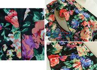 Женское платье New Women Sleeveless Vintage Empire Waist Ruffled Tunic Floral Mini Dress