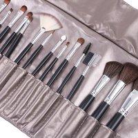 Free Shipping 20 pcs Makeup Brush Kit Makeup Brushes + Silvery grey PU Pouch Bag