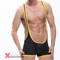 Мужское термобелье HOT N2N Genuine: and retail 90%NYLON sexy fashion breathable men's capsular bag mesh Siamese pants:WJg0a