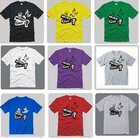 Мужская футболка Custom design+200g+cotton+polyester+turndown collar+white+offensive t shirts