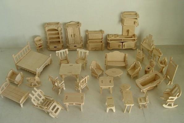 Compre educa o 3d de madeira casa de brinquedo em miniatura kit modelo de - Casas en miniatura de madera ...