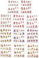33 листов цветы с Золотой глиттер для ногтей Арт Наклейки Наклейки обертывания воды передачи Накладные ногти