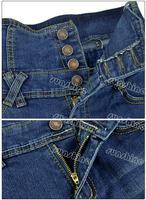 Женские джинсы 3pcs/Lot Women's Retro Slim High Waist Button Fly Skinny Pencil Pants Denim Jeans Trousers 14016