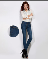 Женские джинсы NEW 2013 womens jeans fashion Trousers pencil pants feet pants Spring Autumn Elastic denim big yards