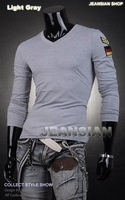Мужская футболка 2012 New Men's T-Shirts, Mens Fashion T-shirts, Casual Slim Fit Stylish Shirts Color:9 Colors US Size:S-M-L-XL D301