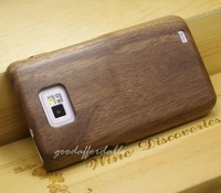 Чехол для для мобильных телефонов Real Genuine Black walnut Wood Hard Cover Case for Samsung GT I9100 Galaxy S2