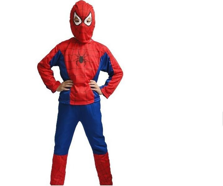 Новогодний костюм для мальчика человек паук своими