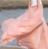 2014 hot women's new bohemian  thin skirts half-length Chiffon skirt summer slim skirts 1002