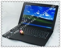 Ноутбук disscount shipping 13.3 inch laptop computer PC netbook 320GB HHD 2GB DDR2 black and white aviliable