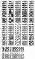 Наклейки и надписи qtica ногтей 01-60