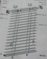 Жалюзи, Шторки Graceblinds 50mmLadder ,  headrail MSJ001-MSJ003