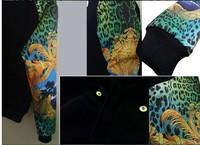 Kanye west красочный ретро салатный Куртка Пальто леопард пара