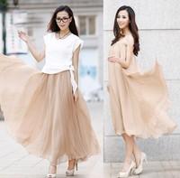 Женская юбка 2014 hot women's new bohemian thin skirts half-length Chiffon skirt summer slim skirts 1002
