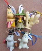 5 Sets of 25pc Cartoon Moomin Valley Snufkin Floren Hippo Figure Strap