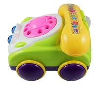 selling children/kid's educational telephone toys with music multifunctional baby phone toys abs material