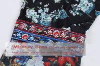 2013 Spring/Summer High Fashion Vintage National Trend Print Slim Boutique Dress Designer Dresses SS12547