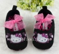 Free shipping Hot Sale cute Red Cartoon shoes Girls toddler hello kitty Shoes Baby First Walkers shoes
