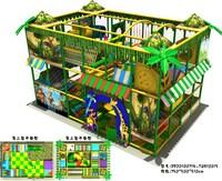 Детская площадка CE certified, PVC protecting pipe, galvanized steel tube frame-indoor playground equipment