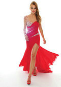 Платье на студенческий бал Floor Length Chiffon Long Evening Gowns Formal Long Dress Cheap 2013