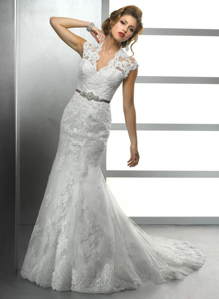 Свадебные платья с в образным вырезом