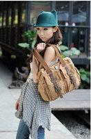 Сумка через плечо Hot sale! Men & Women Leisure Canvas Handbag Bag Shoulder Bag