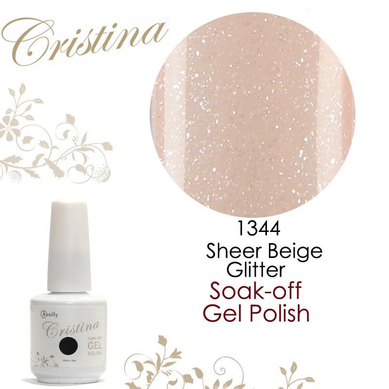 1344Sheer Beige Glitter