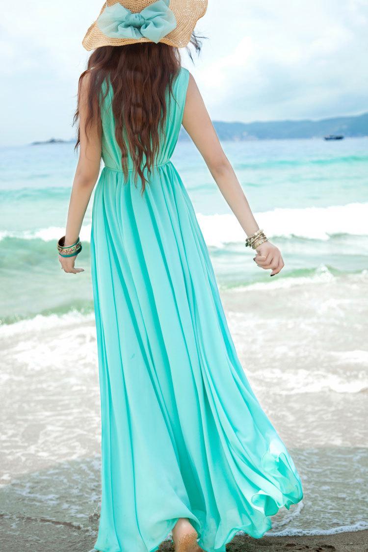 Пляжные платья в пол