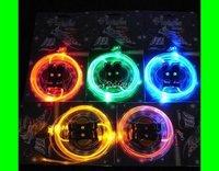 Неоновые шнурки для обуви 100pc/lot LED LIGHT UP SHOELACES shoe lace DISCO FLASH