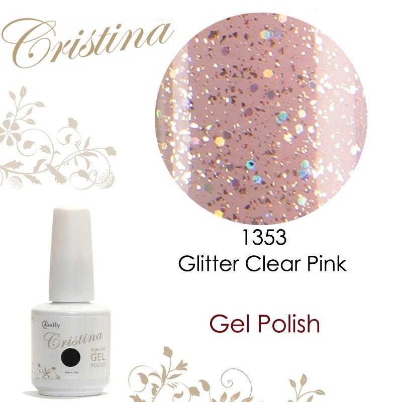 1353 Glitter Clear Pink