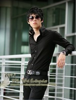 Holiday Sale 2013 Free Shipping New Mens Shirts Casual Slim Fit Stylish Dress Shirts US size XS,S,M,L Y0118