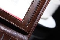 Кошелек crocodile grain genuine leather men's wallet leather purse