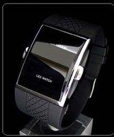 Наручные часы newest LED luxury Date digital watch Mens Sports red Led watch