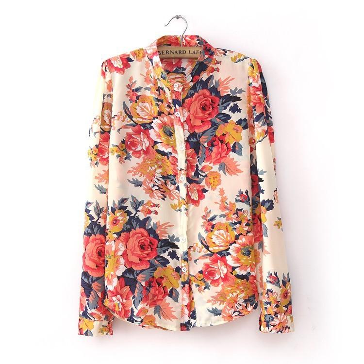 Блузка В Цветочек