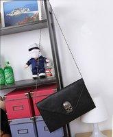 Сумка через плечо Lady Women Envelope Clutch Chain Purse HandBag Shoulder Hand Tote Skull Bag[04070120