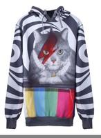 Женские толстовки и Кофты Winter Women's cat face long sleeve the short paragraph fleece hedging sweater Pullovers notu872