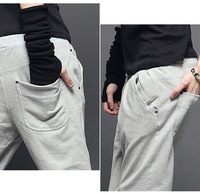 Мужские штаны 2013New Patch pocket after han edition couples sweatpants men's for Pants P6610