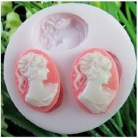женщины фигура смола цветок силиконовые формы мыло, помадной свеча формы, сахар ремесло инструменты, силиконовые формы для тортов + МБ120