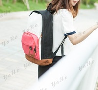 Детали и Аксессуары для сумок Peach Color Children School Bags.Casual Zipper Backpack Double-Shoulder Canvas Sport Bag Women Messenger Bags Brand YAHE WB4005