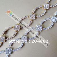 Стразы для одежды GGS 10meters/lot, SS16 RC5081