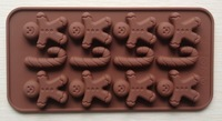 Украшения для выпечки Silicone Gingerman+J Shape Chocolate Mold Jelly Cany Mold Cake Moulds Bakeware