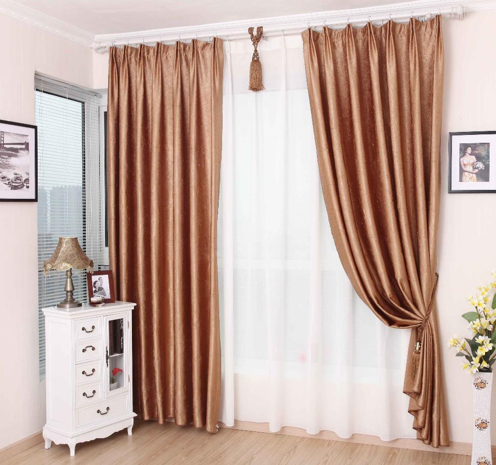 livraison gratuite 100 rideau pliss polyester rose or ready made salon rideau rideau de la. Black Bedroom Furniture Sets. Home Design Ideas