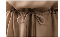 Free shipping! New Casual Dresses CHIFFON Coffee Wholesale and Retail