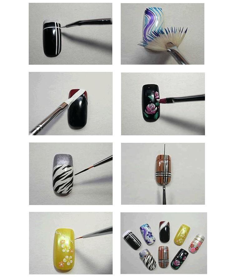 Кисть для рисунка на ногтях