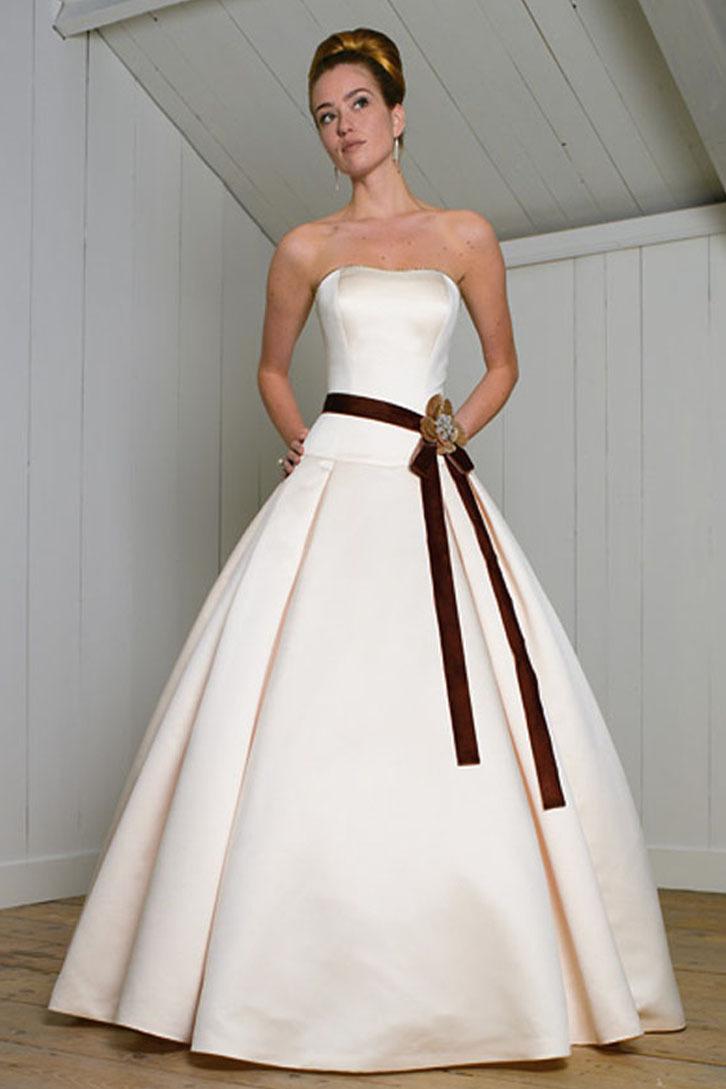 Свадебные Платья С Темным Поясом